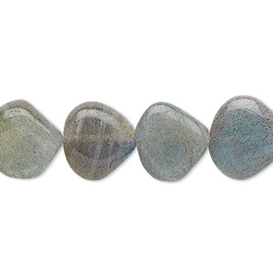 bead, labradorite (natural), 11-13mm hand-cut flat teardrop, b- grade, mohs hardness 6 to 6-1/2. sold per 13-inch strand.