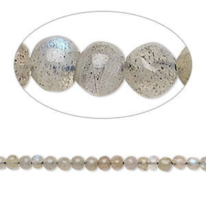 bead, labradorite (natural), 3-4mm hand-cut round, d grade, mohs hardness 6 to 6-1/2. sold per 13-inch strand.