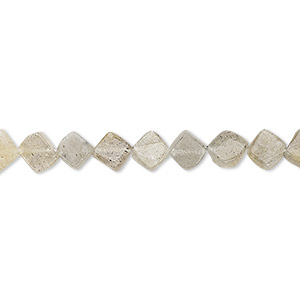 bead, labradorite (natural), 5-6mm hand-cut flat diamond, c- grade, mohs hardness 6 to 6-1/2. sold per 13-inch strand.