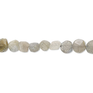 bead, labradorite (natural), 5-8mm hand-cut faceted flat round, d grade, mohs hardness 6 to 6-1/2. sold per 13-inch strand.