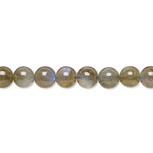 bead, labradorite (natural), 6mm round, b grade, mohs hardness 6 to 6-1/2. sold per 16-inch strand.