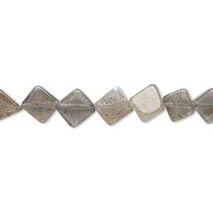 bead, labradorite (natural), 7-8mm hand-cut flat diamond, c grade, mohs hardness 6 to 6-1/2. sold per 13-inch strand.