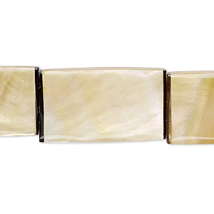 bead, laminated gold lip shell (assembled), 26x14mm-27x15mm double-sided rectangle, mohs hardness 3-1/2. sold per pkg of 5.