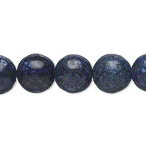 bead, lapis lazuli (dyed), 11-12mm round, d- grade, mohs hardness 5 to 6. sold per 15-inch strand.