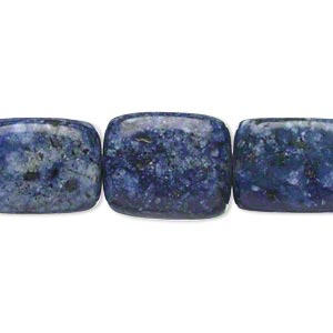 bead, lapis lazuli (dyed), medium tumbled nugget, mohs hardness 5 to 6. sold per 15-inch strand.