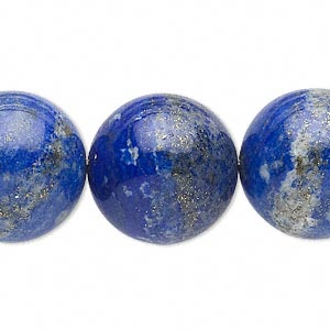 bead, lapis lazuli (natural), 20mm round, d grade, mohs hardness 5 to 6. sold per 15-inch strand.