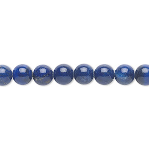 bead, lapis lazuli (natural), 6mm round, a- grade, mohs hardness 5 to 6. sold per 16-inch strand.