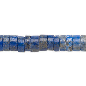bead, lapis lazuli (natural), 8x4mm hand-cut heishi, c grade, mohs hardness 5 to 6. sold per 16-inch strand.