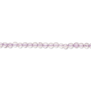 bead, lavender amethyst (natural), 2-3mm hand-cut round, b grade, mohs hardness 7. sold per 13-inch strand.