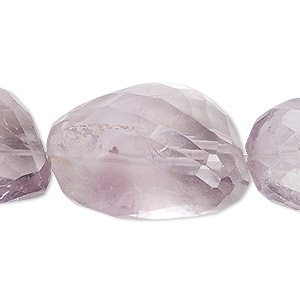bead, lavender amethyst (natural), medium to extra-large hand-cut faceted nugget, mohs hardness 7. sold per 7-inch strand.