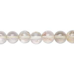 bead, lodlite (natural), 7-8mm hand-cut round, b- grade, mohs hardness 7. sold per 8-inch strand.