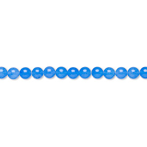 bead, malaysia jade (dyed), cobalt, 3mm round, b grade, mohs hardness 7. sold per 16-inch strand.