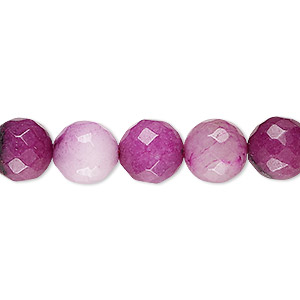 bead, malaysia jade (dyed), dark and light mauve, 9-10mm round, c- grade, mohs hardness 7. sold per 14-inch strand.
