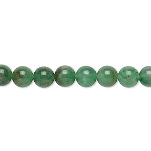 bead, malaysia jade (dyed), green, 6mm round, d grade, mohs hardness 7. sold per 15-inch strand.