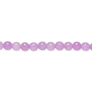 bead, malaysia jade (dyed), mountain purple, 4-5mm round, c grade, mohs hardness 7. sold per 15-inch strand.