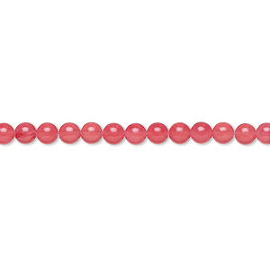 bead, malaysia jade (dyed), red, 3mm round, b grade, mohs hardness 7. sold per 16-inch strand.