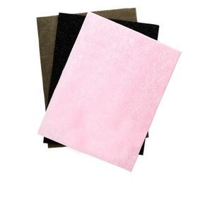bead mat, foam, sage / pink / black, 12x9-inch flocked. sold per pkg of 3.