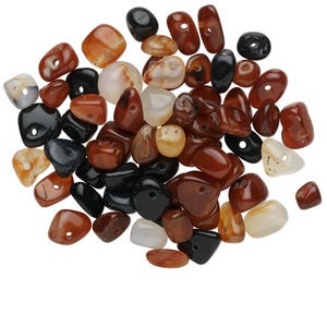 bead mix, multi-agate (natural / dyed / heated), mixed colors, small to medium nugget, mohs hardness 6-1/2 to 7. sold per 1/4 pound pkg, approximately 50-75 beads.