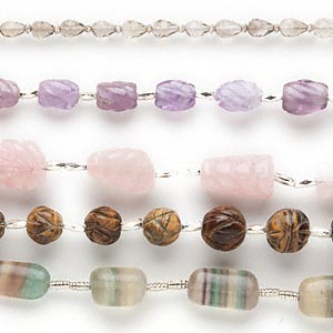 bead mix, multi-gemstone (natural / dyed / heated / irradiated), multicolored, 7mm-18x13mm hand-cut mixed shape, d grade. sold per pkg of (5) 8-inch strands.