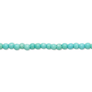 bead mix, turquoise (imitation), light teal green, 2-3mm round. sold per 15-inch strand.