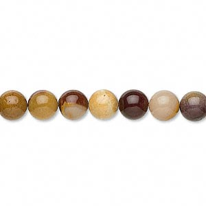 bead, moukaite jasper (natural), 8mm round, b grade, mohs hardness 6-1/2 to 7. sold per 16-inch strand.