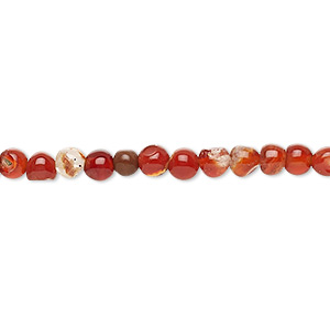 bead, multi-agate (dyed / heated), 3-4mm uneven round, d grade, mohs hardness 6-1/2 to 7. sold per 14-inch strand.