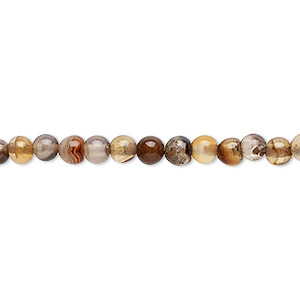bead, multi-agate (dyed / heated), 3-5mm round, c- grade, mohs hardness 6-1/2 to 7. sold per 15-inch strand.