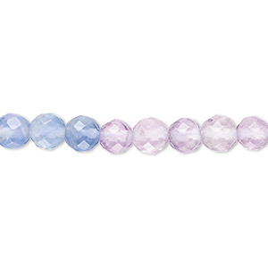 bead, multi-fluorite (natural), 6mm faceted round, a- grade, mohs hardness 4. sold per 16-inch strand.