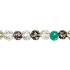 bead, multi-gemstone (natural / dyed / heated / irradiated), 6-7mm hand-cut faceted round, b grade, mohs hardness 3 to 7. sold per 7-inch strand.