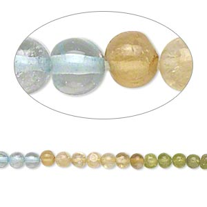 bead, multi-gemstone (natural / dyed / heated), 3-4mm hand-cut round, c grade. sold per 14-inch strand.