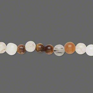 bead, multi-gemstone (natural), 5-6mm round, d grade, mohs hardness 3 to 7. sold per 15-inch strand.
