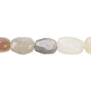 bead, multi-moonstone (natural), 8x8mm-14x10mm hand-cut faceted puffed oval, b- grade, mohs hardness 6 to 6-1/2. sold per 13-inch strand.