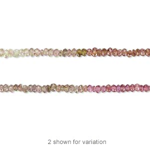bead, multi-spinel (natural), 1x1mm-3x2mm hand-cut faceted rondelle, b grade, mohs hardness 8. sold per 16-inch strand.