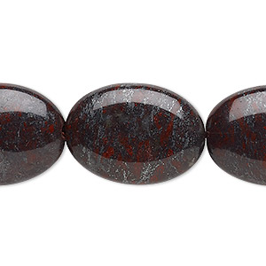 bead, mustang jasper (natural), 24x18mm-25x19mm puffed oval, b grade, mohs hardness 6-1/2 to 7. sold per 15-inch strand.