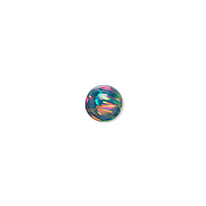 bead, opal (man-made), multicolored, 8mm round. sold individually.