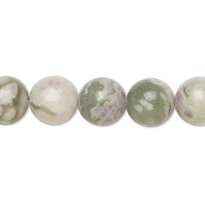 bead, peace jade (natural), 10mm round, b grade, mohs hardness 6 to 6-1/2. sold per 16-inch strand.