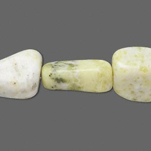 bead, peridot jasper (natural), medium nugget, mohs hardness 6-1/2 to 7. sold per 16-inch strand.