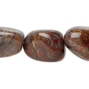 bead, pietersite (natural), large tumbled nugget, mohs hardness 6-1/2 to 7. sold per 16-inch strand.