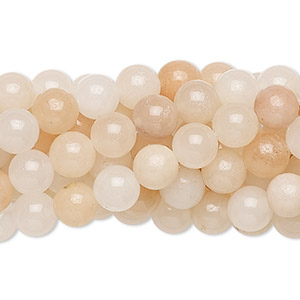 bead, pink aventurine (natural), 6mm round, c grade, mohs hardness 7. sold per pkg of (10) 16-inch strands.