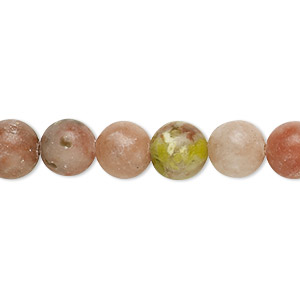 bead, pink lepidolite (natural), 8mm round, c grade, mohs hardness 2-1/2 to 4. sold per pkg of (10) 16-inch strands.