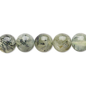 bead, prehnite (natural), 9-11mm round, d grade, mohs hardness 6 to 6-1/2. sold per 15-inch strand.