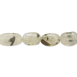 bead, prehnite (natural), 9x7mm-12x8mm hand-cut puffed oval, c grade, mohs hardness 6 to 6-1/2. sold per 14-inch strand.