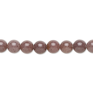bead, purple aventurine (natural), 6mm round, b grade, mohs hardness 7. sold per 16-inch strand.