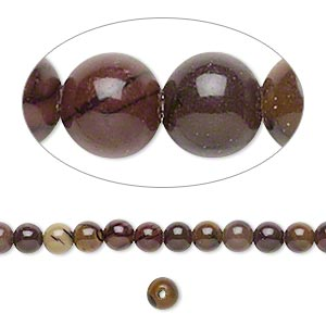 bead, purple creek stone (stabilized), 4mm round, b grade, mohs hardness 3-1/2 to 4. sold per 16-inch strand.