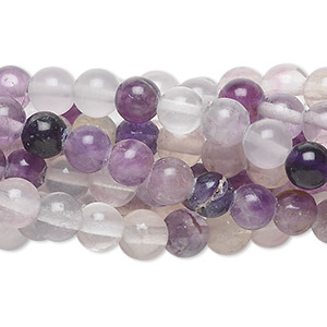 bead, rainbow fluorite (natural), 6mm round, c grade, mohs hardness 4. sold per pkg of (10) 16-inch strands.