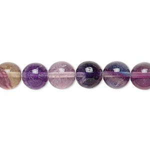 bead, rainbow fluorite (natural), 8mm round, b grade, mohs hardness 4. sold per 16-inch strand.