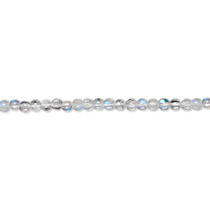 bead, rainbow moonstone (natural), 2-3mm hand-cut round, c grade, mohs hardness 6 to 6-1/2. sold per 16-inch strand.