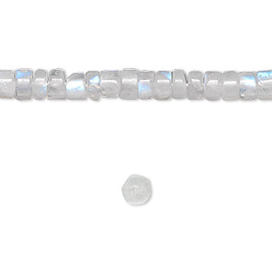 bead, rainbow moonstone (natural), 5x2mm hand-cut heishi, b- grade, mohs hardness 6 to 6-1/2. sold per 16-inch strand.
