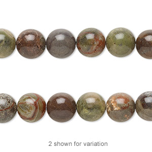 bead, rainbow rhyolite (natural), 8mm round, b grade, mohs hardness 6-1/2 to 7. sold per 8-inch strand.