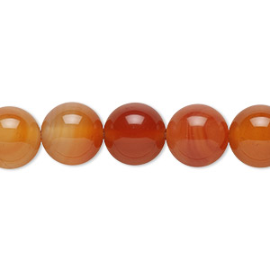 bead, red agate (dyed / heated), 10mm round, b grade, mohs hardness 6-1/2 to 7. sold per 16-inch strand.
